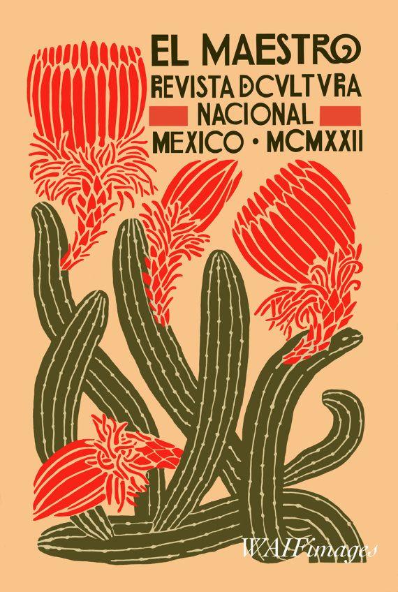 El Maestro Poster Image – vintage poster, mexican art, digital image, magazine illustration – Svenja Gade