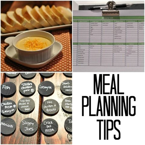 Meal Planning Tips.  Unique way to plan meals and buy groceries!