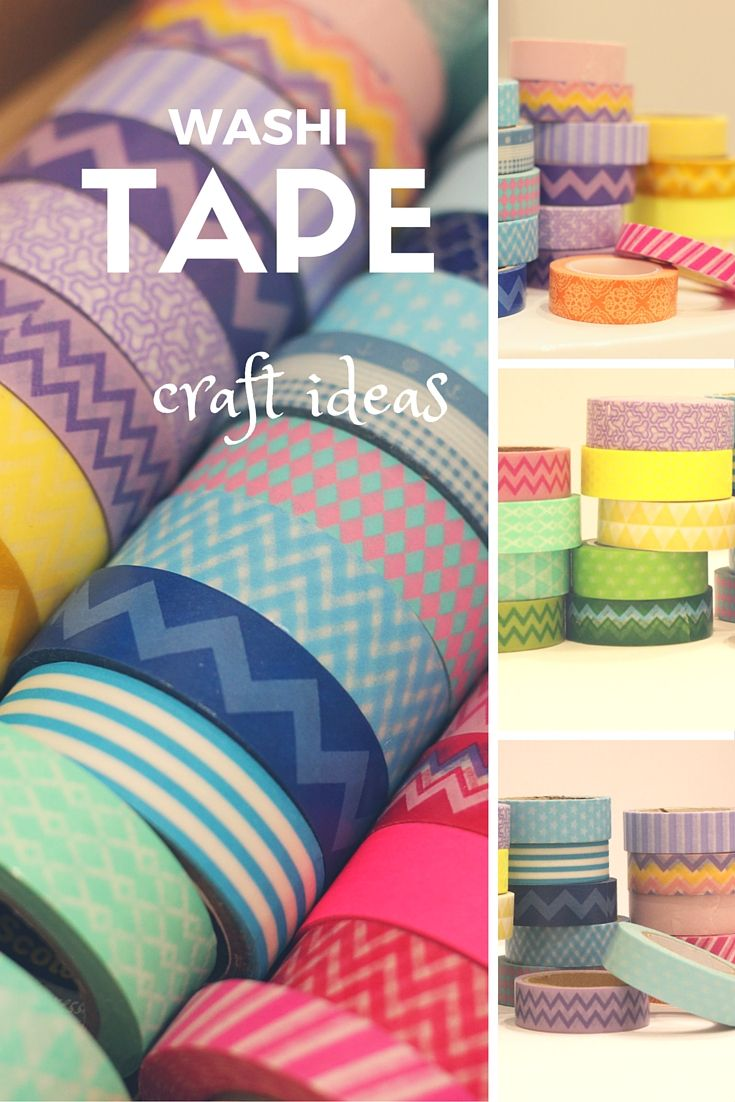 A few simple ideas for washi tape projects.