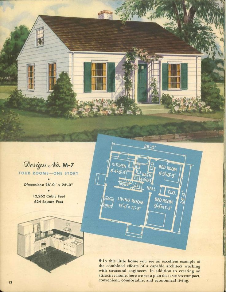 Modern Small Homes From Enduring Products Of The Forests 1948 Vintage House