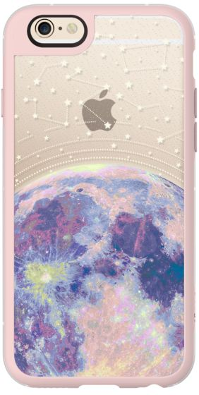 Casetify iPhone 6s Plus New Standard Case - Blue moon and stars constellations / galaxy pattern clear background case by Marta Olga Klara #Casetify