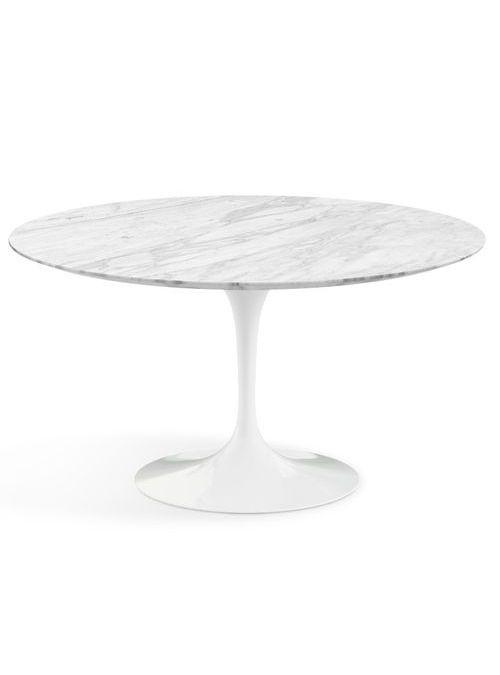 Tavolo Tondo Diametro 120.Tavolo Da Cucina Tondo Stile Saarinen Con Piano In Marmo Di
