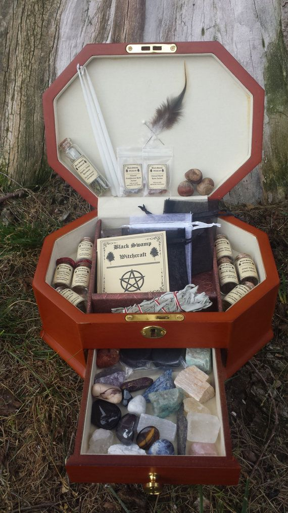 "CUSTOM ORDER FOR ""ashnp123"" Large Pagan Wiccan Witch Box Starter Kit Traveling…"