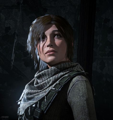 rise of tomb raider lara croft temple mine character portrait portraits hotsampling downsampling 4k 8k hotsampled beautiful dof games game screenshot screenshots digital art square enix tombraider rottr crystal dynamics survival close up closeup image composite editor outdoor indoor baba yaga ice cave landscape waterfall water