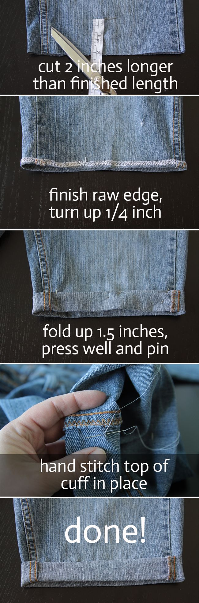 www.itsalwaysautumn.com - three methods for turning jeans into shorts in 20 minutes or less - cuffed cutoffs