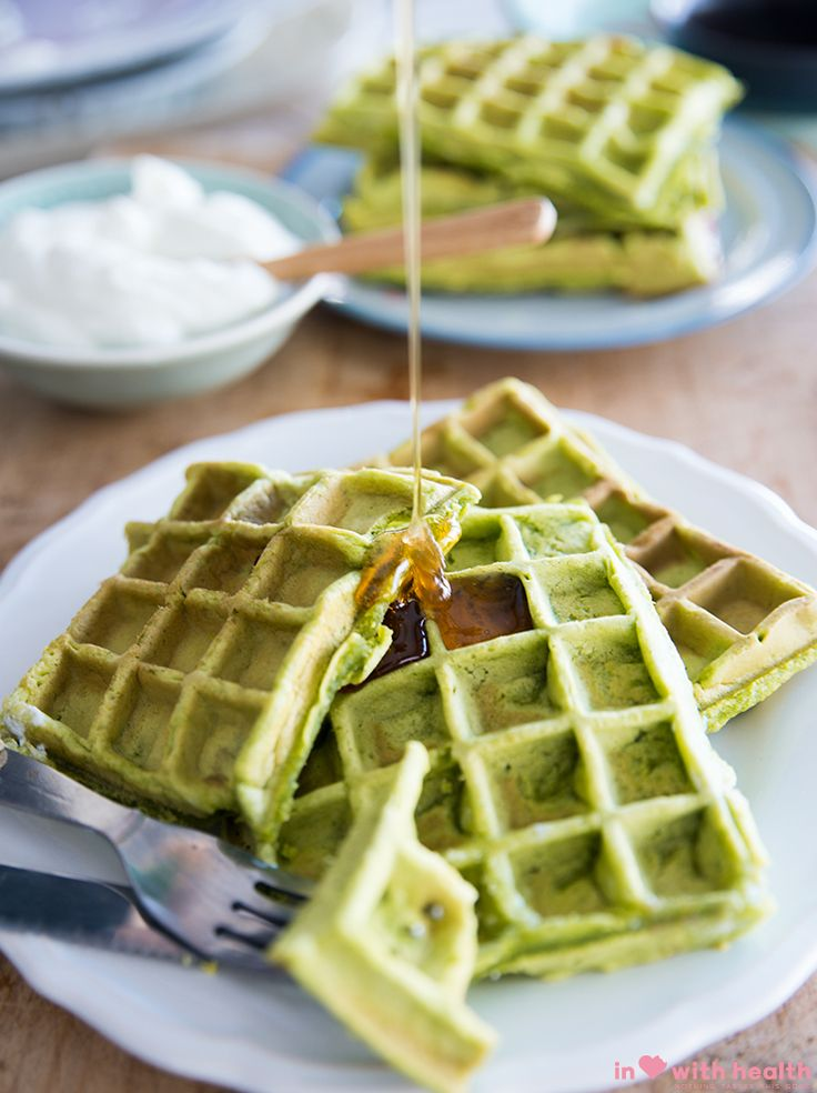 Holy waffles! This is really good! A little green never hurt nobody, so click the picture above to go directly to the full recipe or visit inlovewithhealth.com for more!