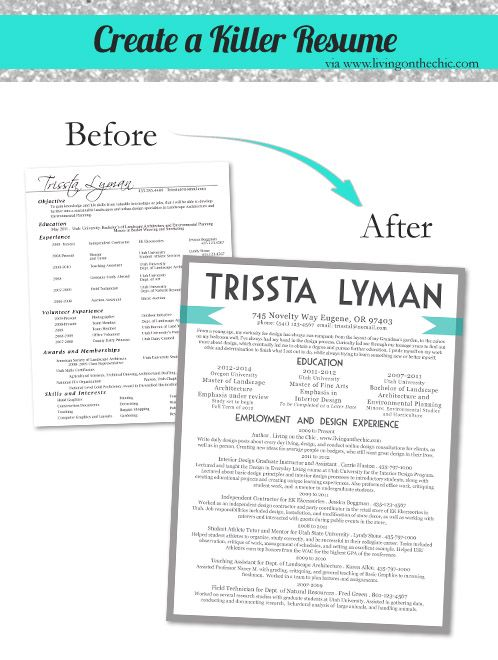 Living on the Chic: Great Graphic Resume Tips.  Writing a resume and being able to market your skills is an important thing for the kids to learn