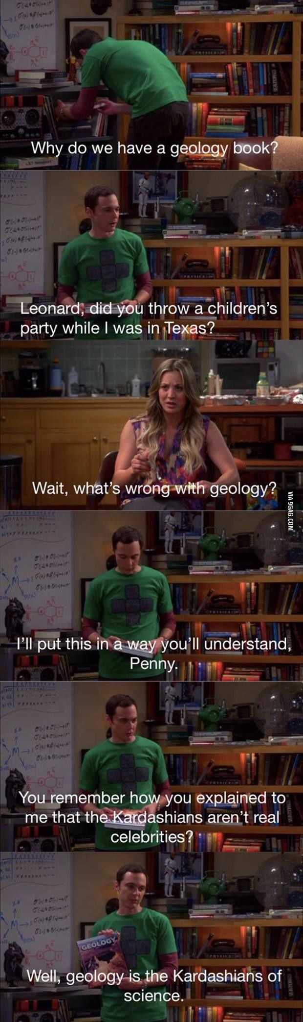 I'm offended for the geology community! But not going to lie this was a funny scene!