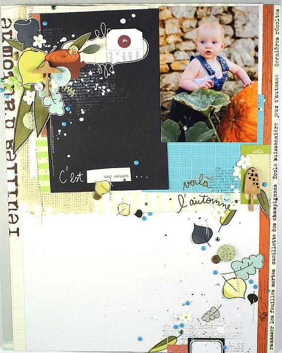 Papiers et vignettes 4h37, pastilles, bulles pailletées, jute crème, micro-cabochons, cardstock et étiquette Ephéméria by Mag de Rose Anis
