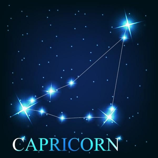 """Capricorn sits in the 270-300th degree in the zodiac between Sagittarius and Aquarius. It is the smallest and second dimmest constellation in the sky. The brightest star in it, Capricorni or Deneb Algedi roughly translates from Arabic to mean """"the tail of the goat."""" Capricorn is one of the oldest known constellations, its depiction of a goat-fish hybrid dating back to the Middle Bronze Age."""