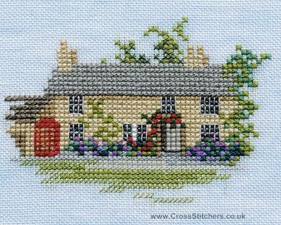 Rose Cottage - Minuets - Cross Stitch Kit from Derwentwater Designs