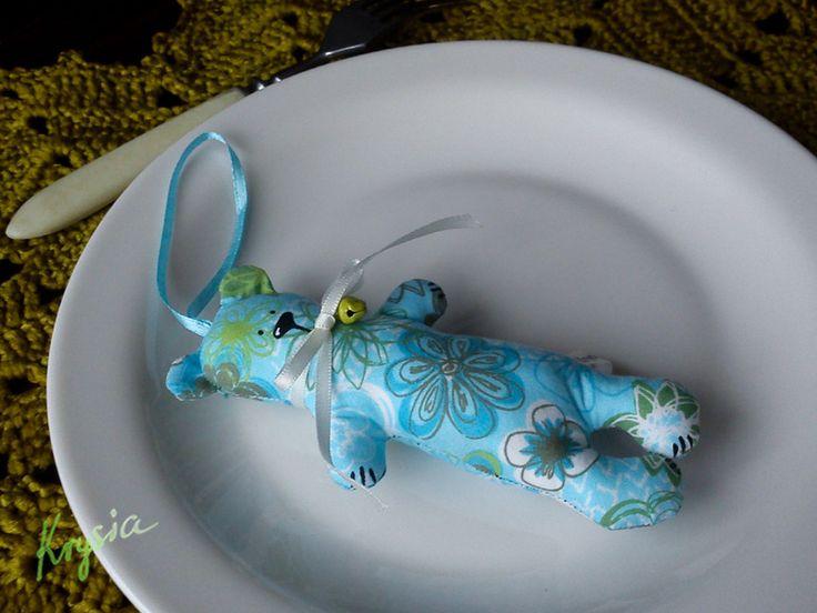 Niebieski  MIŚ 27 w Krysia to uszyła na DaWanda.com