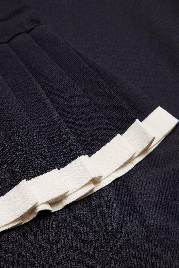 COS Pleated sleeve jumper in Indigo