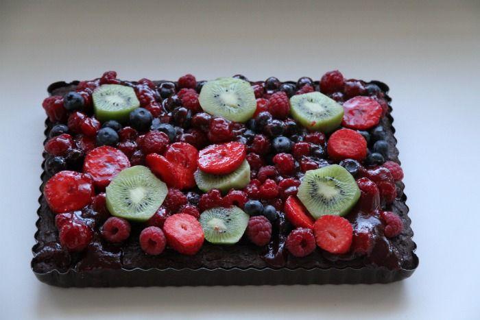 Fresh fruit brownies