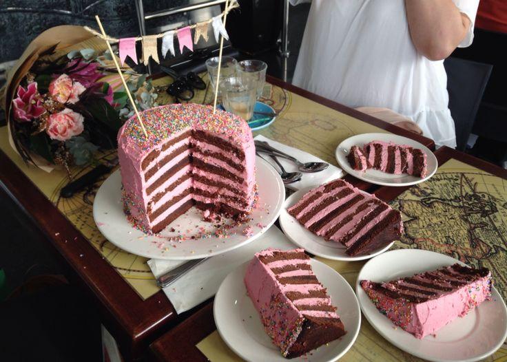 Chocolate & Raspberry Layered Cake