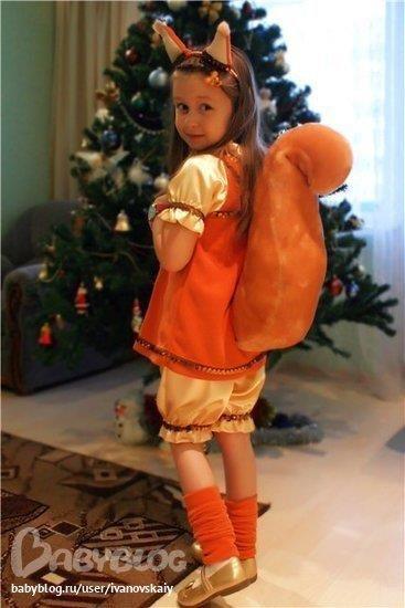 Пошить костюм белочки ребенку