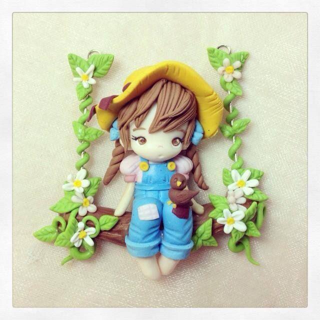 Polymer clay girl