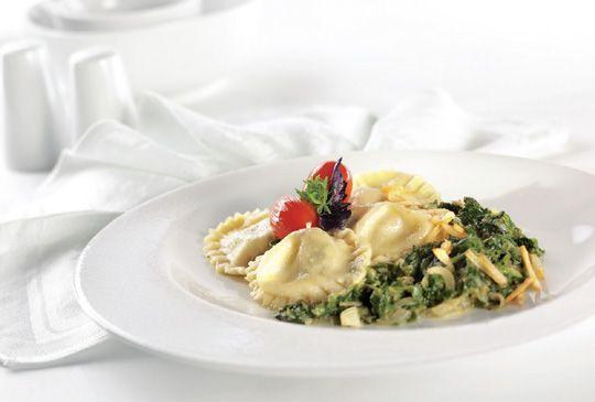 Trefa Supermarket - Recepty - Hlavní jídla -  Ravioli se špenátem