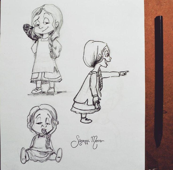 """Hey Naber :) #illustration #illüstrasyon #suluboya #watercolor #markers #copic #cocukkitabi #children #drawing #cocuklar #child #happy #children #cocuk…"""