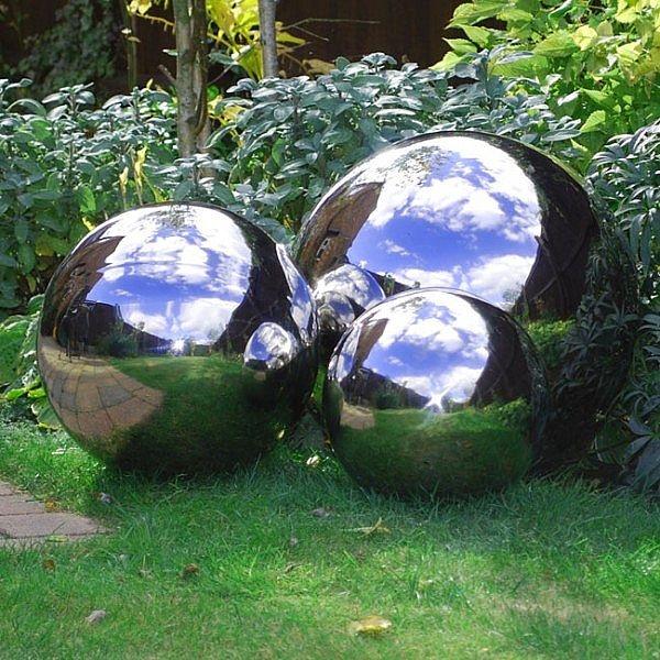 Stainless Steel Mirror Sphere Garden Feature