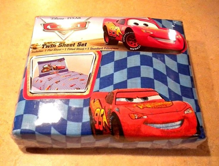 Disney Pixar Cars Twin Sheet Flat Fitted Pillowcase Lightning McQueen Jay  Franco. 155 best   Cars bedroom images on Pinterest   Car bedroom
