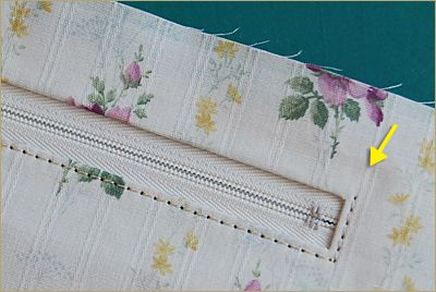 ファスナーポケットの縫い方 - ちくちくふれんど  ** はんどめいど日記 **