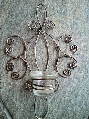 candle holder wire