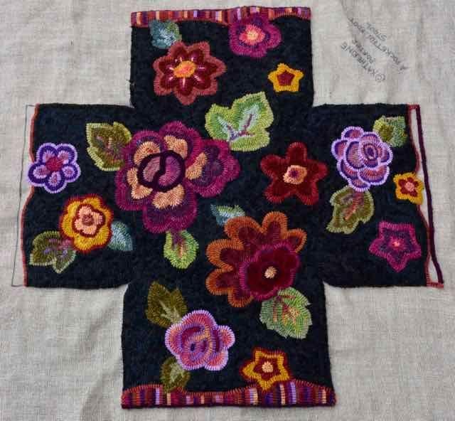 1 Yard Of Rainbow Colors Colors Rainbow Smallrugsideas Yard Rug Hooking Designs Rug Hooking Patterns Rug Hooking