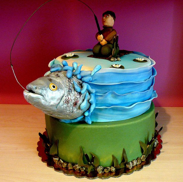 Gone fishing cake | Flickr - Photo Sharing!
