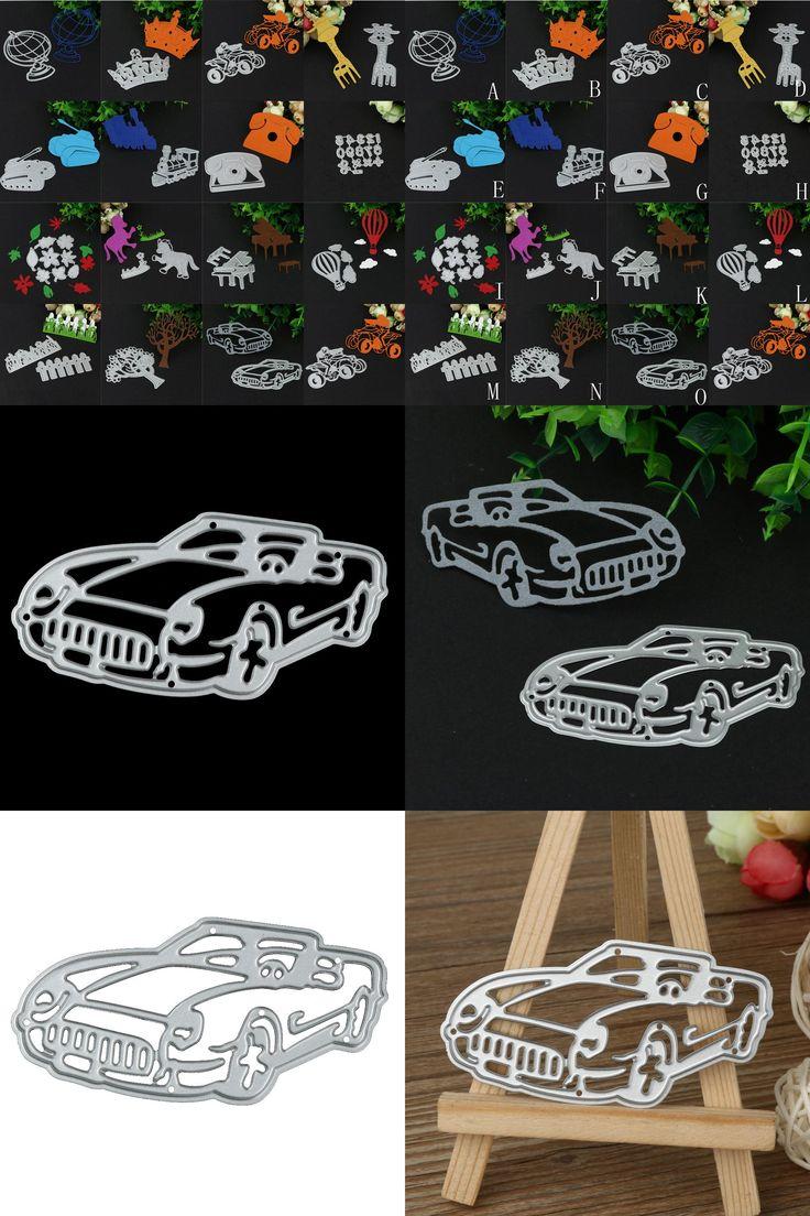 [Visit to Buy] Silver Giraffe/Tank/Train/Car/Piano New Metal Cutting Dies Stencil DIY Scrapbooking Embossing Album Paper Card Craft # #Advertisement