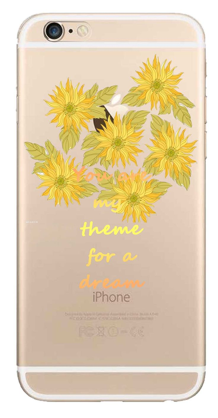 Whatskin DIY Style Color Drawing Flowers Series 15 Clear Back Cover for iphone 6