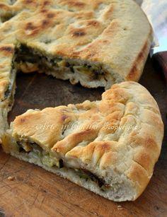Focaccia in padella con zucchine e mozzarella ricetta veloce vickyart arte in cucina