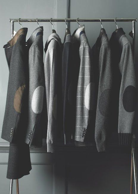 Hackett London Collection, Elbow patches jacket/blazer #men #style #grey