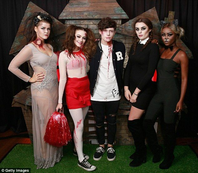 Ghoulish: (L-R)Saara Aalto, Emily Middlemas, Ryan Lawrie, Samantha Lavery and Gifty Louise