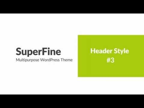 SuperFine  | WordPress Theme for business | Header Style #3