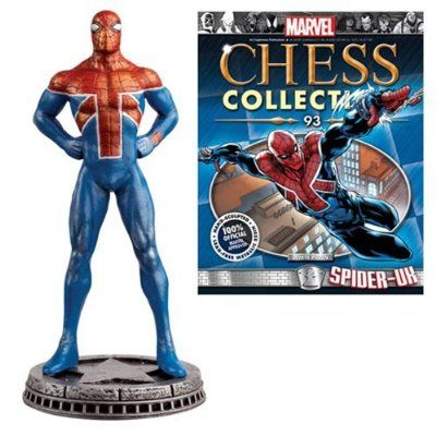 Marvel Amazing Spider-Man Spider-UK White Pawn Chess Piece with Collector Magazine #93