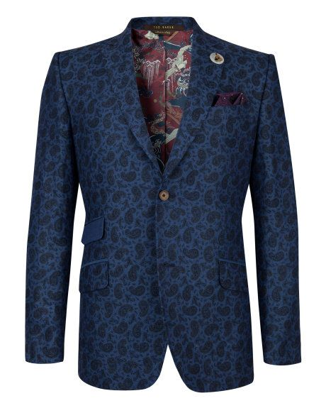 Linen blazer - Navy | New Arrivals | Ted Baker #PinPointed for John