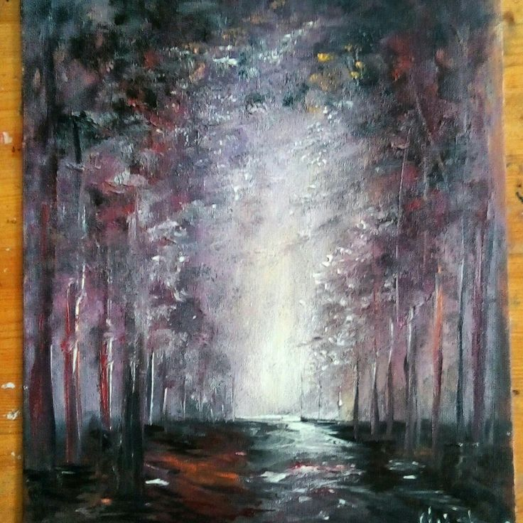 Path in the woods Original Oil Painting