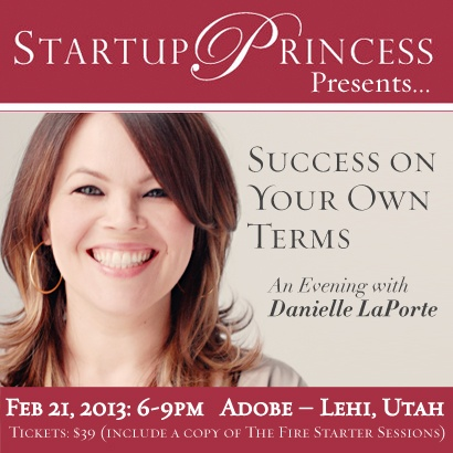 Hey #Utah, don't miss this great event on Thursday with Best Selling Author & #Entrepreneur Expert, Danielle Laporte!
