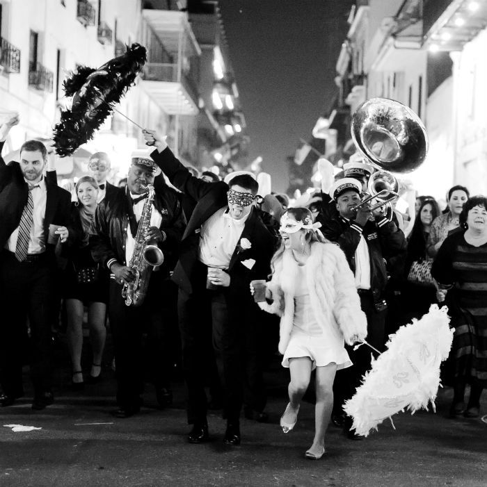 Weddings are just more fun in New Orleans. #secondlines