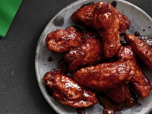 Bobby Flay's Hot Wings with Blue Cheese-Yogurt Sauce Recipe : Bobby Flay : Food Network - FoodNetwork.com
