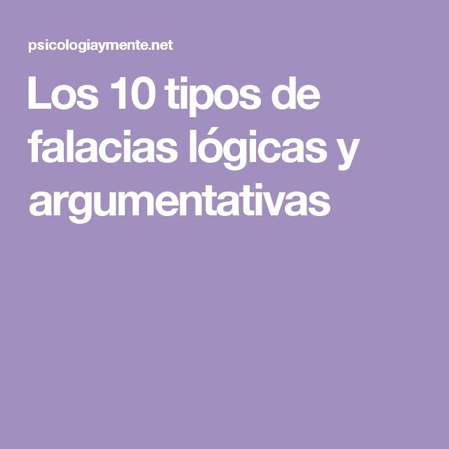 Los 10 tipos de falacias lógicas y argumentativas