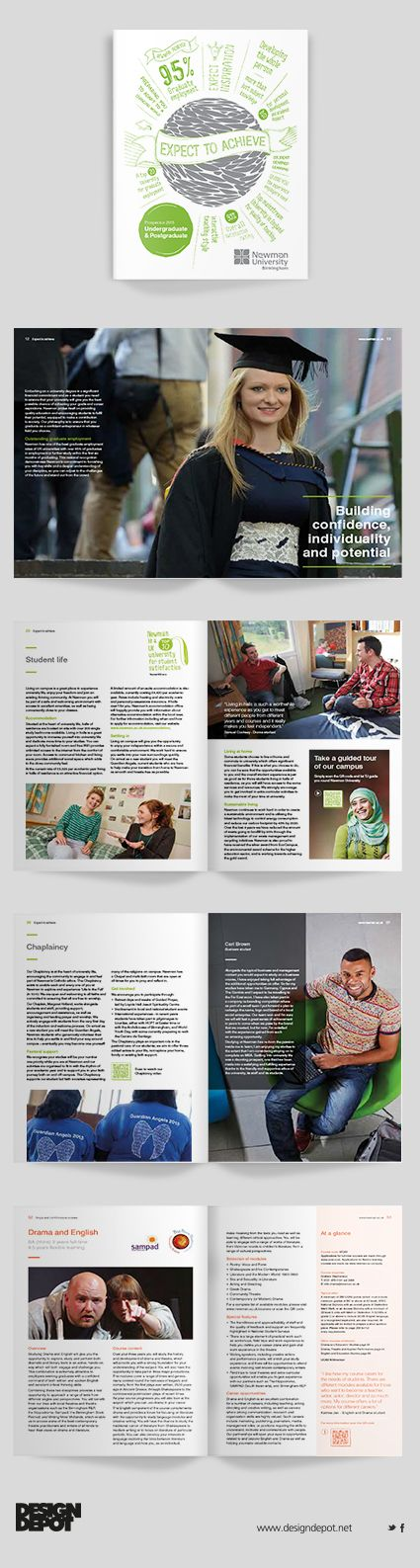 Newman University prospectus, artwork, Birmingham, university, identity, branding, design depot, prospectus, education, graphics, Northamptonshire #DesignDepotuk