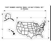Best School Makeover Playground Ideas Images On Pinterest - Us map stencil