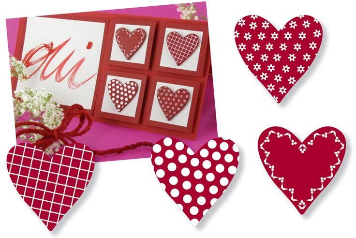 Dekorfigurer, hjärtan, 4-pack
