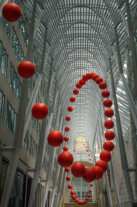 New Wonderful Photos: Spiral ball sculpture - Toronto
