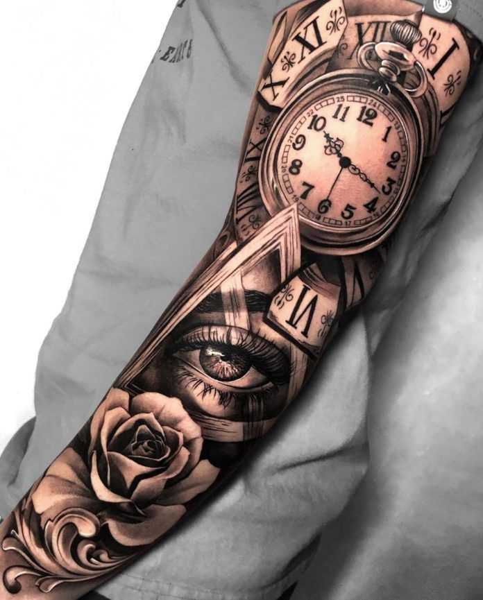 100 Tatouages d'Horloge pour Homme en 2020 | Tatouage montre