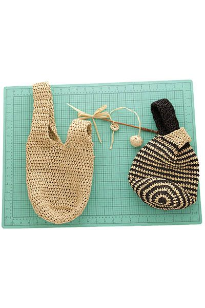 Japanese Knot Bag Knitting Pattern Using Cakes