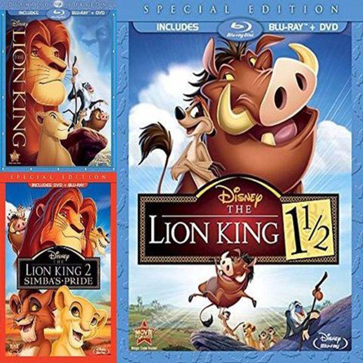 Lion King Movies Trilogy Set on Blu-Ray