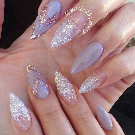 70+ coole und kreative Stiletto Nail Art Designs; Stiletto Nail Designs; Bling St … – Nails